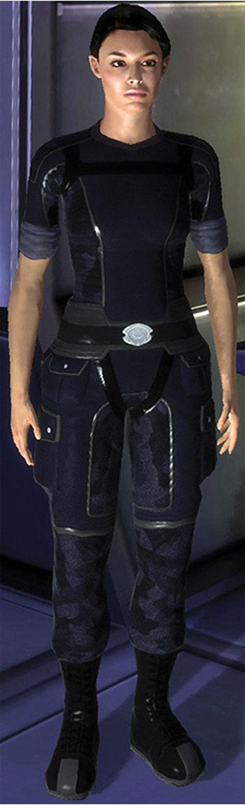 Ashley Williams in Mass Effect 1 - in blue uniform