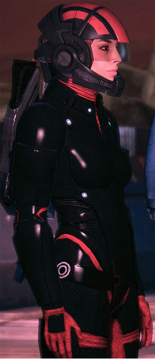 Ashley Williams in Mass Effect 1 - in Colossus armor
