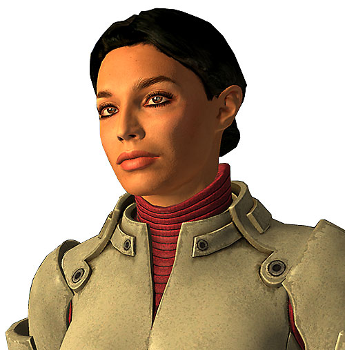 Ashley Williams in Mass Effect 1 - face closeup
