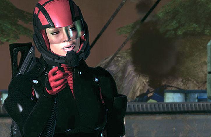 Ashley Williams in Colossus armor