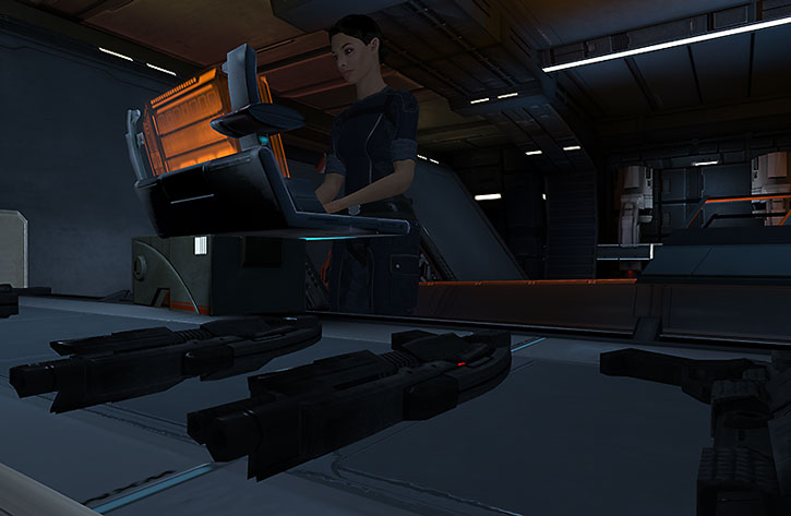 Ashley Williams maintaining mass effect shotguns