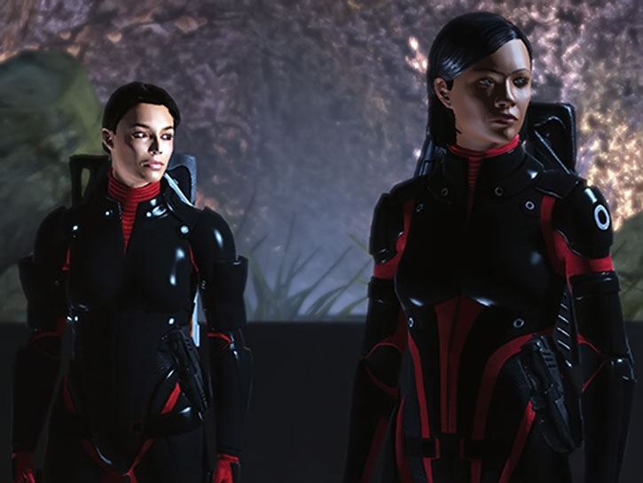 Chief Williams and Commander Shepard on the Citadel