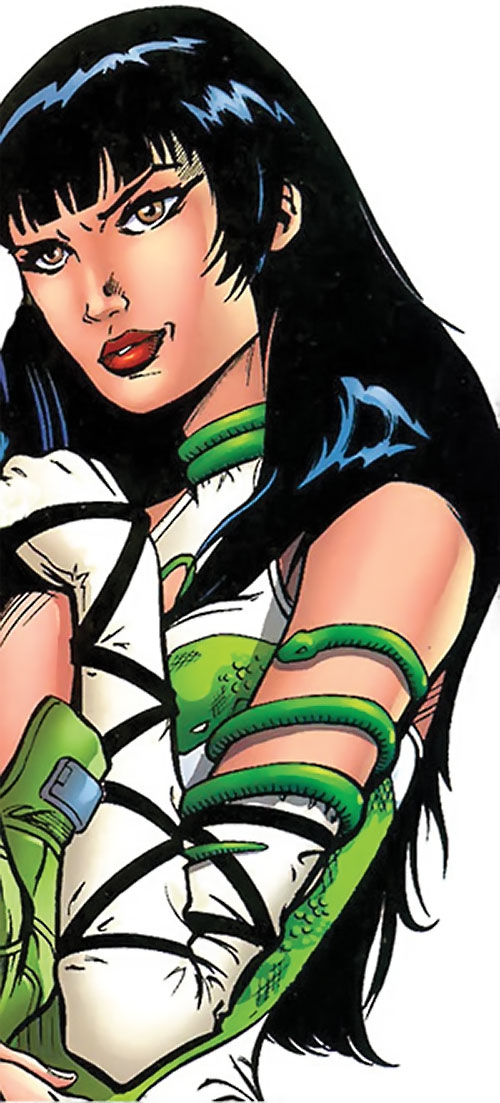 Asp (Marvel Comics) with a decorative snake around her arm