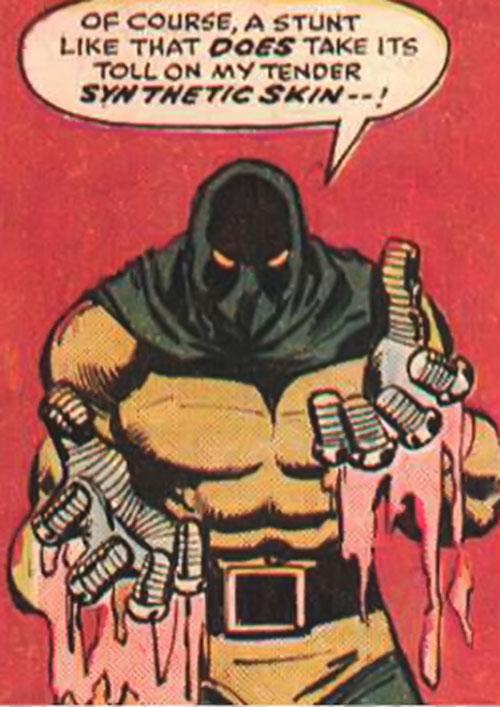 Assassin (Defenders enemy) (Marvel Comics) reveals his steel hands