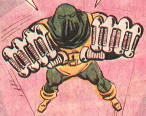 Assassin (Defenders enemy) (Marvel Comics) leaping fists first