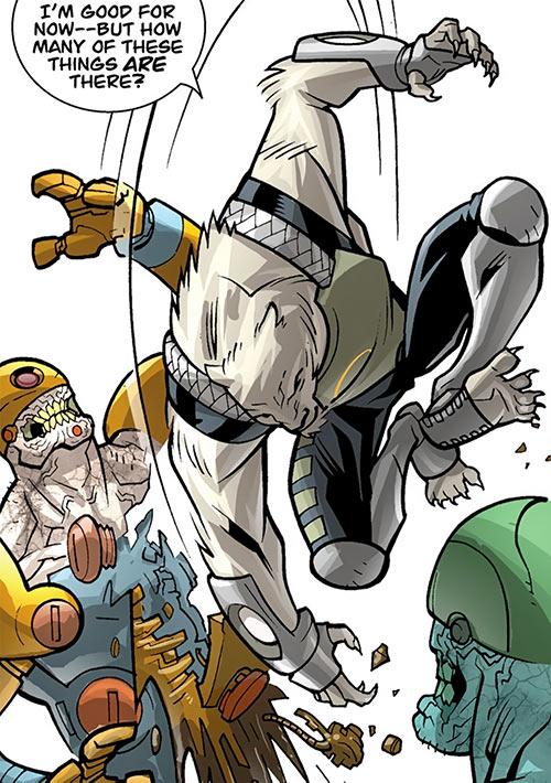 Astounding Wolf Man (Image Comics Kirkman) fights Stedman's zombies