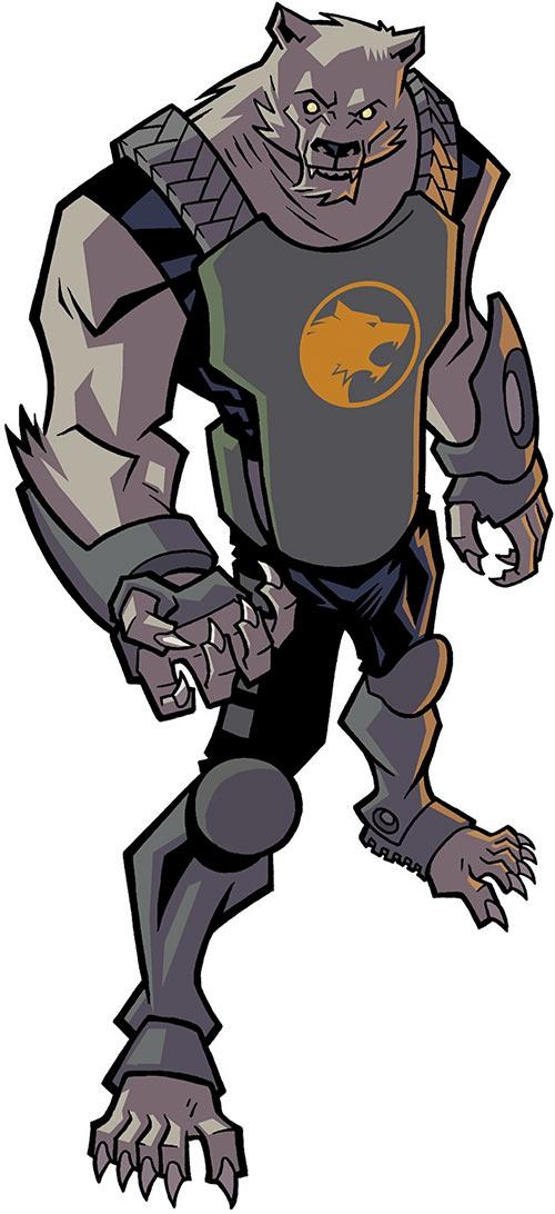 Astounding Wolf Man (Image Comics Kirkman) green body armor