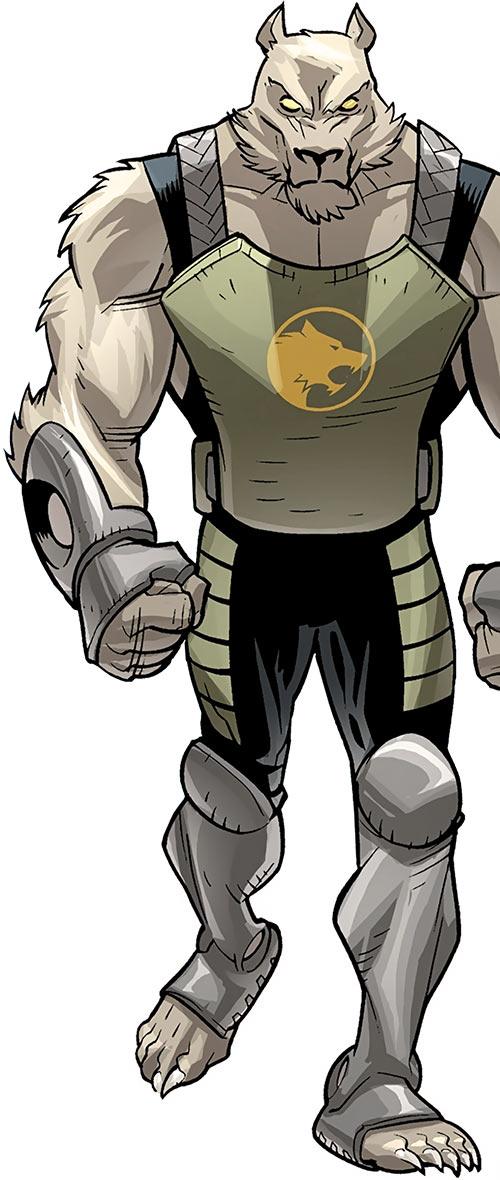 Astounding Wolf Man (Image Comics Kirkman) walking fists closed