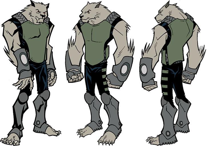 Model sheet for the Astounding Wolf Man (Image Comics)