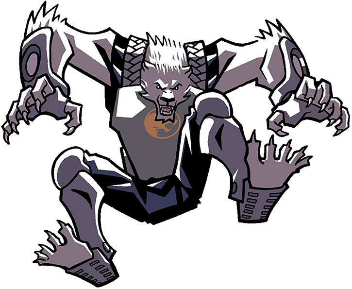 The Wolf-Man leaping (Image Comics)