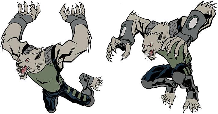 Astounding Wolf Man (Image Comics Kirkman) - Leaps art studies
