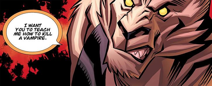 Astounding Wolf Man (Image Comics) teach me to kill a vampire