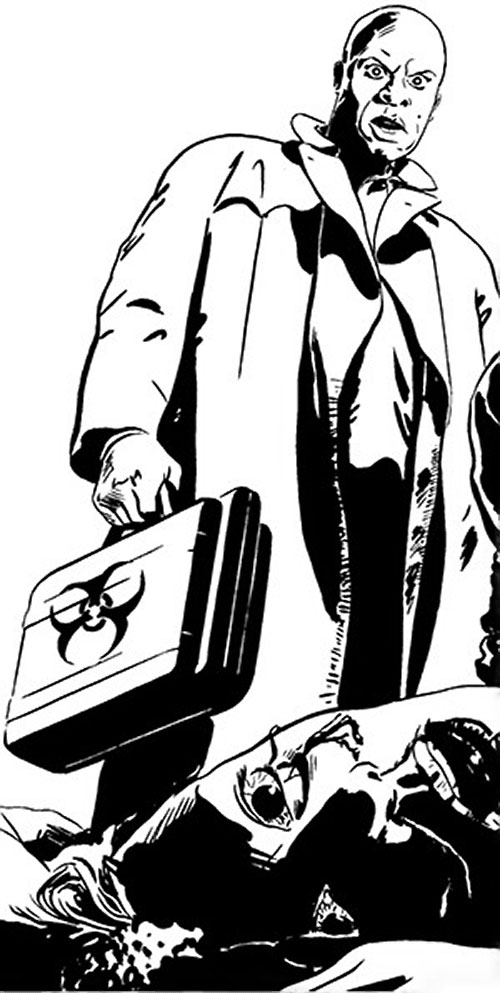 The Atheist (Antoine Sharpe) (Desperado Image Comics) with a hazmat attache case