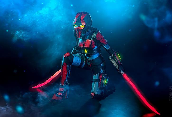 Atlas Corporation (Borderlands games) Crimson Lance assassin Meariku and Dorian