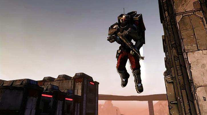 Atlas Corporation (Borderlands games) Crimson Lance jetpack trooper