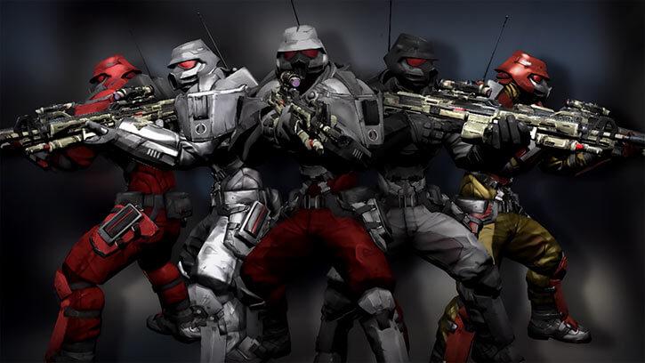Atlas Corporation (Borderlands games) Crimson Lance uniform variants