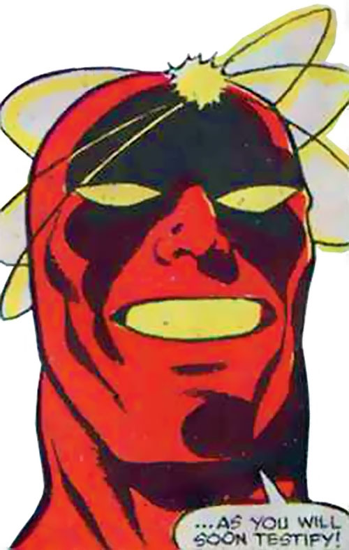 Atom-Smasher (Black Goliath & Thing enemy) (Marvel Comics) face closeup
