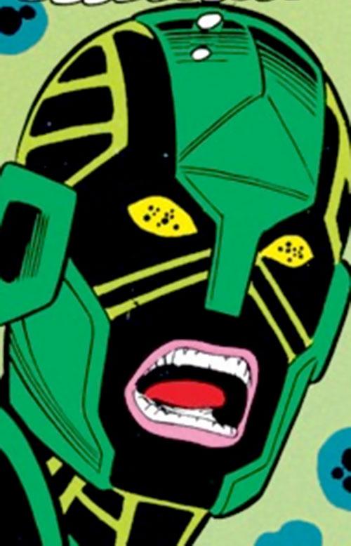 Atom-Smasher (War Machine character) (Marvel Comics) face closeup