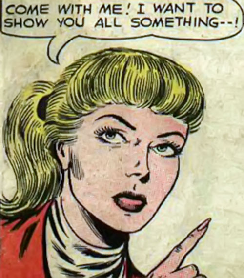 Atomic Knights (DC Comics) - Marene looking decisive