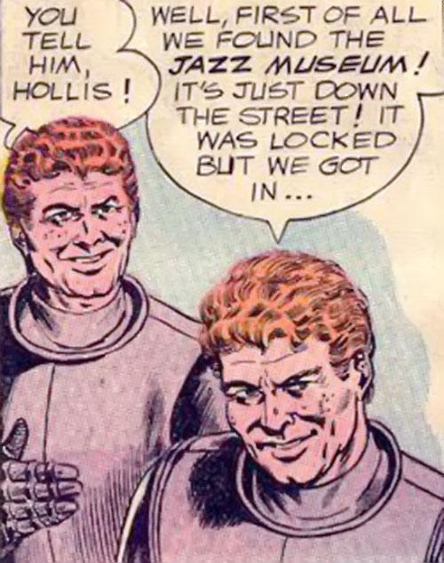 Atomic Knights (DC Comics) - Wayne and Hollis Hobard faces