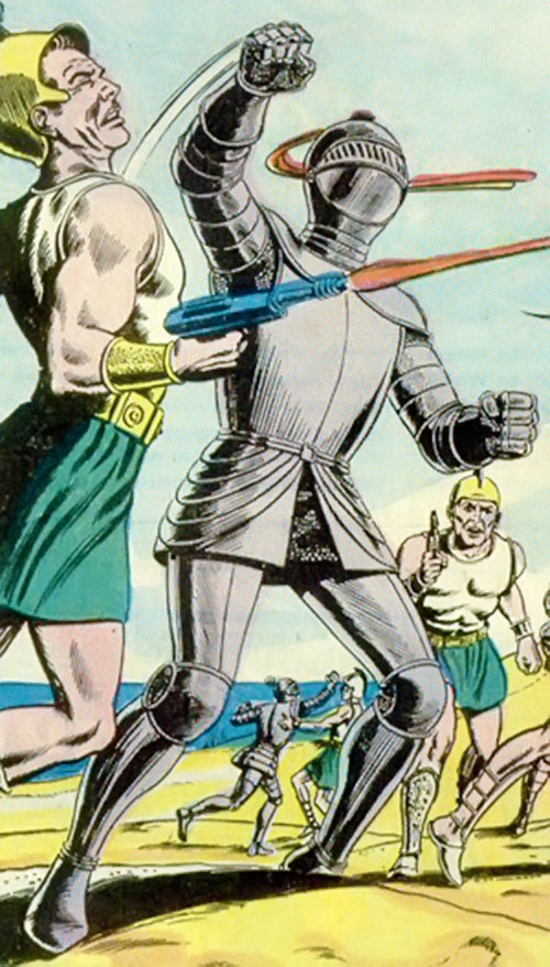Atomic Knight (DC Comics) vs. Atlantide soldiers
