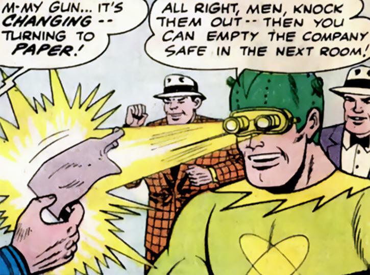 Atomic Man (DC Comics) (1960 Batman enemy) power use