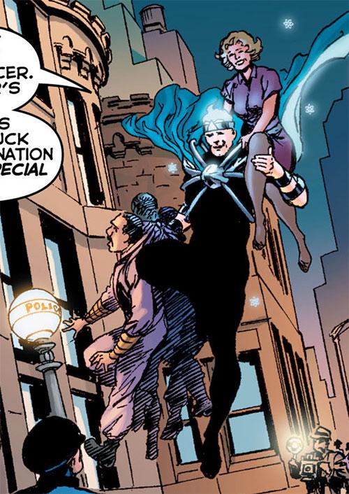 Atomicus (Astro City comics) with Irene