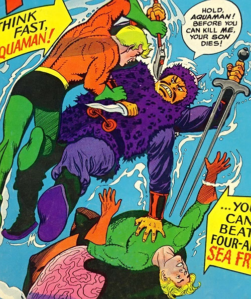 Attucka the Merciless vs. Aquaman (DC Comics)