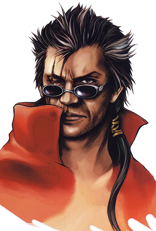 Auron (Final Fantasy X) face closeup