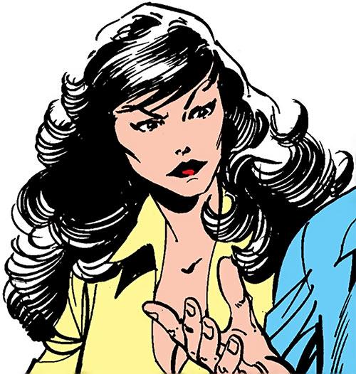 Aurora of Alpha Flight (Marvel Comics) out of costume