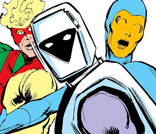 Avalanche (Marvel Comics X-Men) helmet closeup