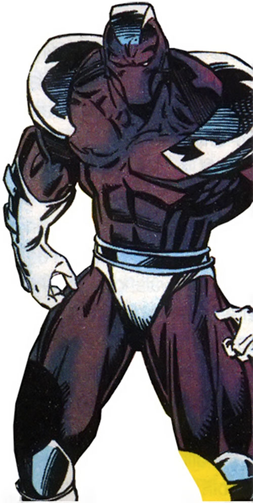 Avalanche (Marvel Comics) with the gray and silver costume
