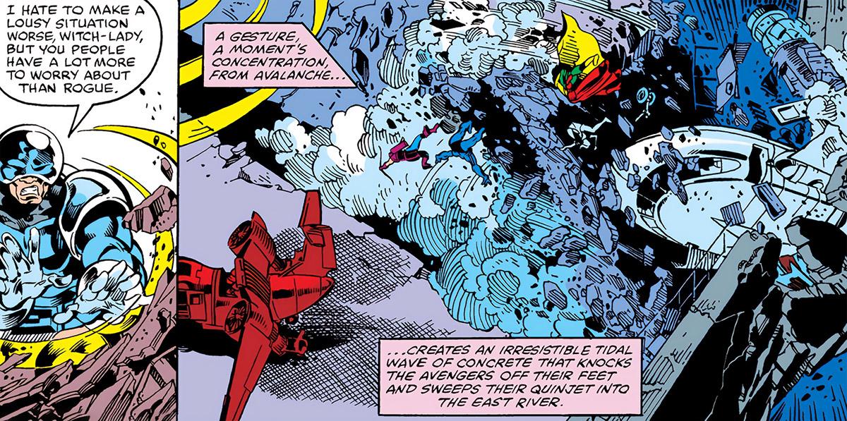 Avalanche (Marvel Comics X-Men) vs the Avengers