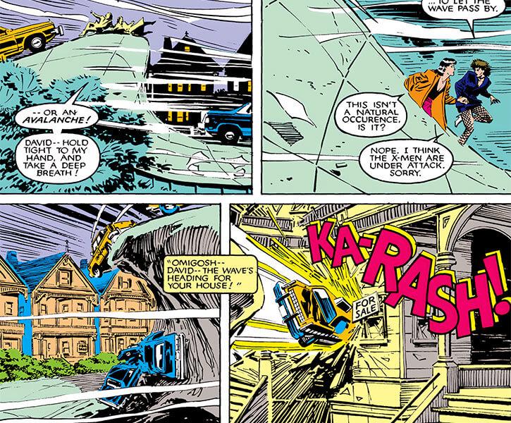 Avalanche (Marvel Comics X-Men) full power