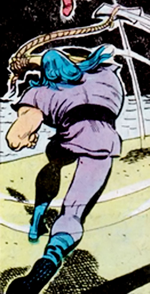The Axeman (Richard Dragon enemy) (DC Comics) swings his flying axe