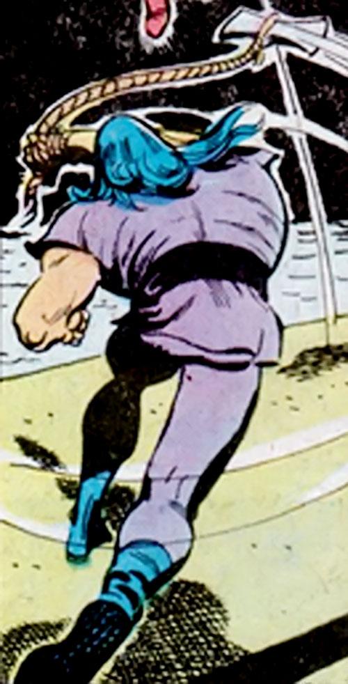 The Axeman (Richard Dragon enemy) (DC Comics) swings his flying axe