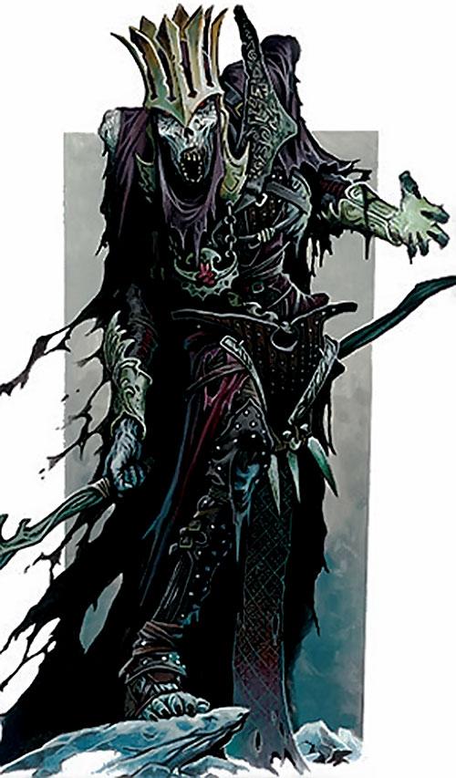 Azalin the lich in leather armor (D&D Ravenloft)