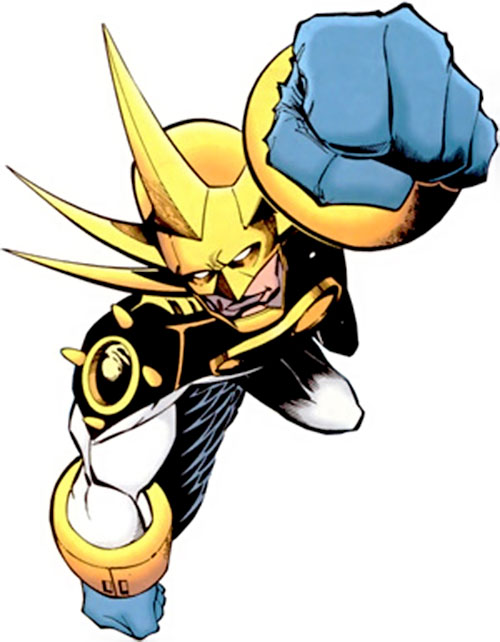Aztek (DC Comics) flying fist first