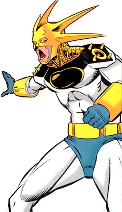 Aztek (DC Comics) yelling