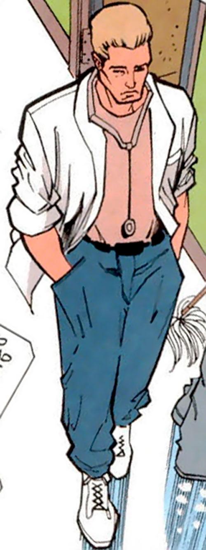 Aztek (DC Comics) as Curt Falconer high angle shot