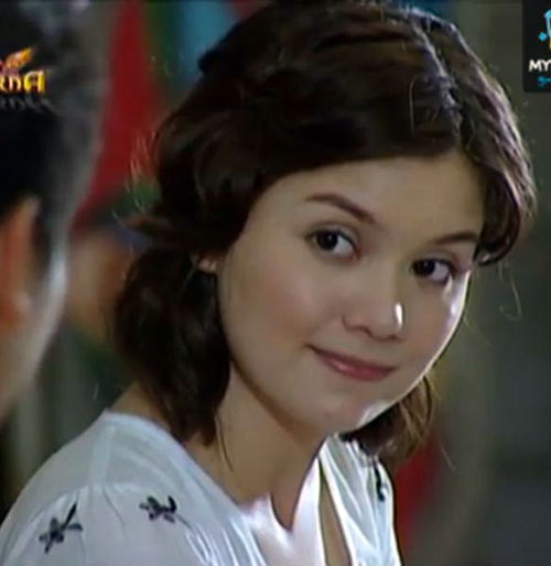 Babaeng Impakta (Nadine Samonte in Darna series) in a white dress