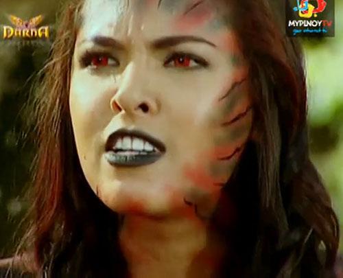 Babaeng Linta (Darna enemy) (Lady Leech) (Maggie Wilson take) red eyes green lips