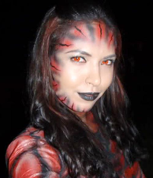 Babaeng Linta (Darna enemy) (Lady Leech) (Maggie Wilson take) facial makeup