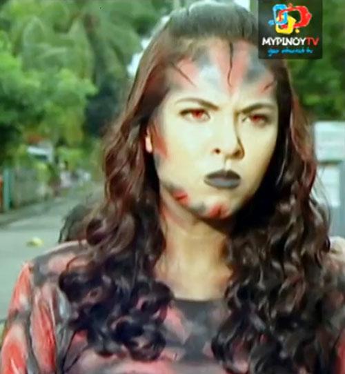 Babaeng Linta (Darna enemy) (Lady Leech) (Maggie Wilson take) face closeup