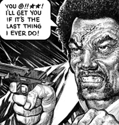 Bad Bad Leroy Brown by Jack Chick points a pistol