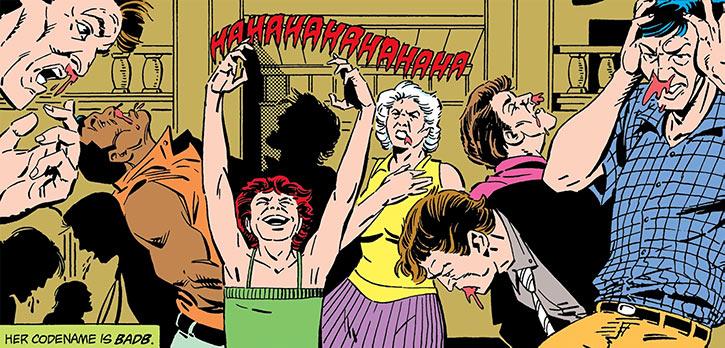 Badb maddens a crowd DC Comics Suicide Squad