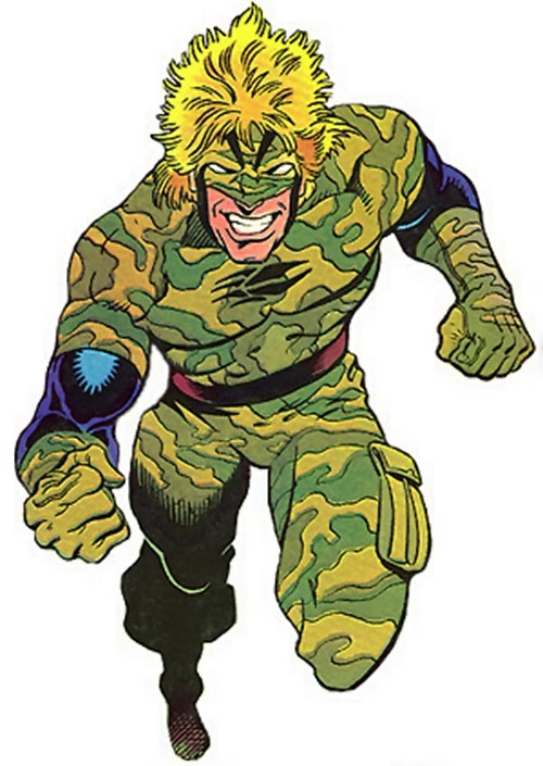 Badger (First Comics) in camouflage fatigues