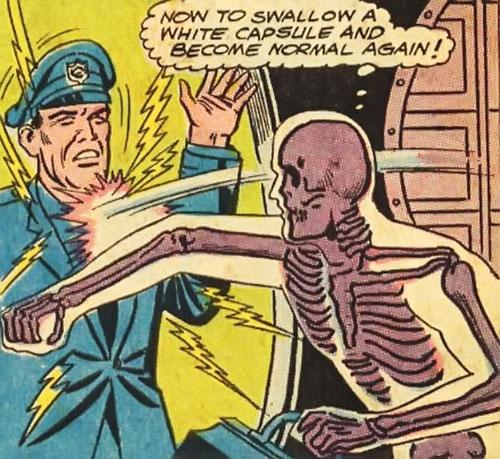 Bag o' Bones punches a cop