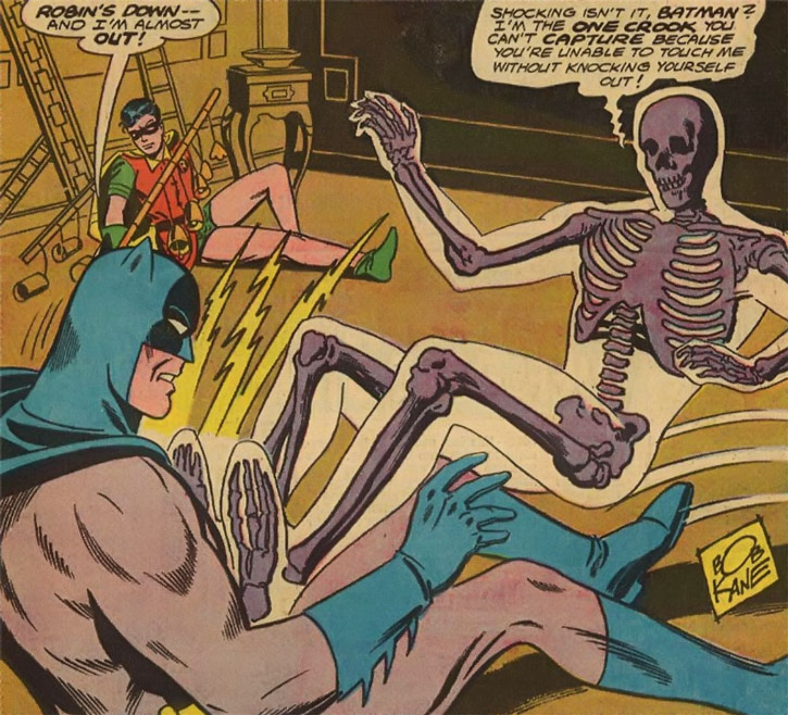 Bag o' Bones fights Batman and Robin