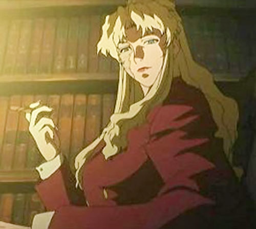 Balalaika of Black Lagoon and a bookshelf